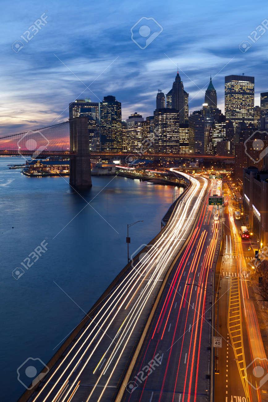 Immagini Stock - New York City. Immagine Di Manhattan E Strada Molto ...