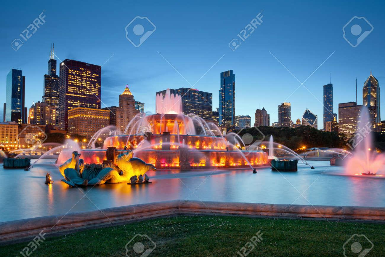 Buckingham Fountain. Image of the Buckingham Fountain in Grant Park, Chicago, Illinois, USA. - 14126426