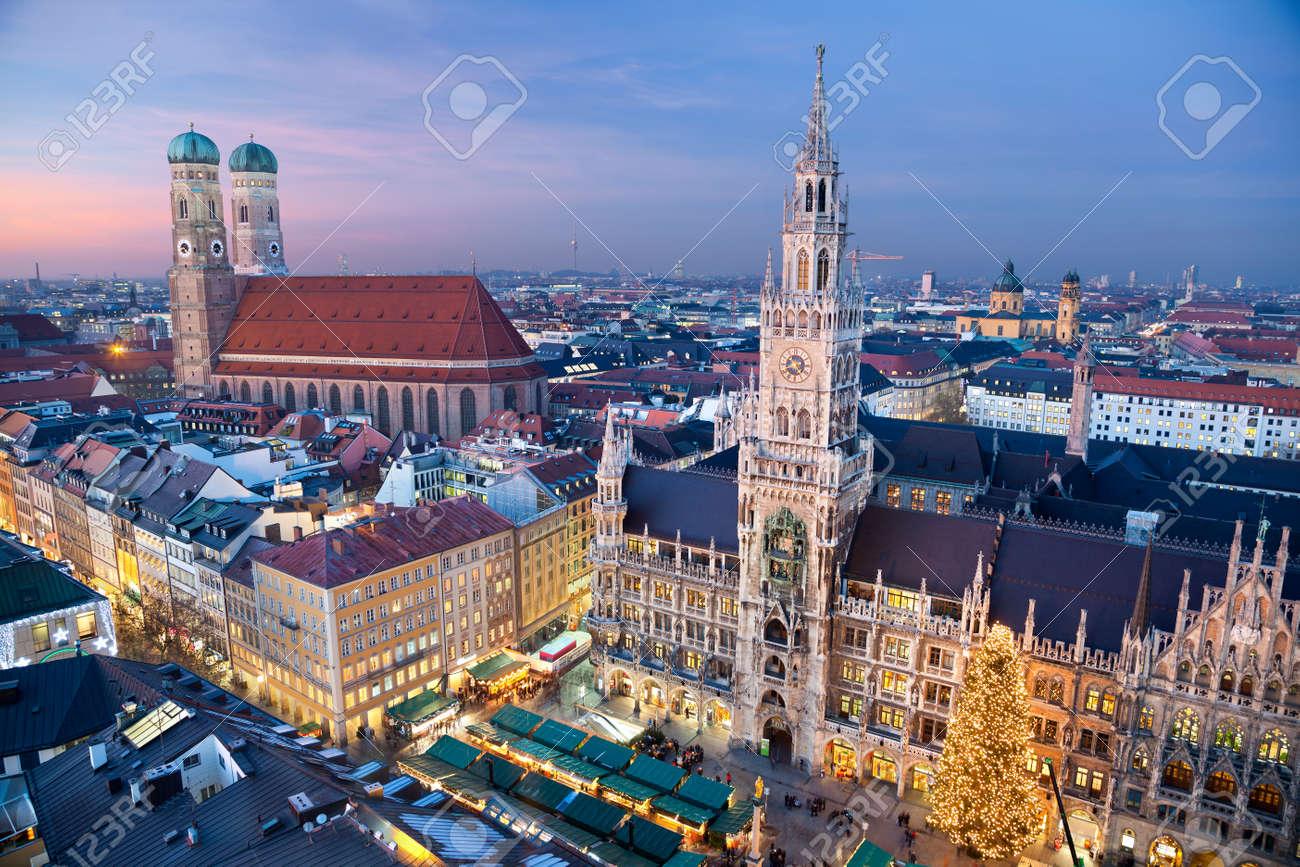 Munich Germany Christmas.Munich Germany Aerial Image Of Munich Germany With Christmas