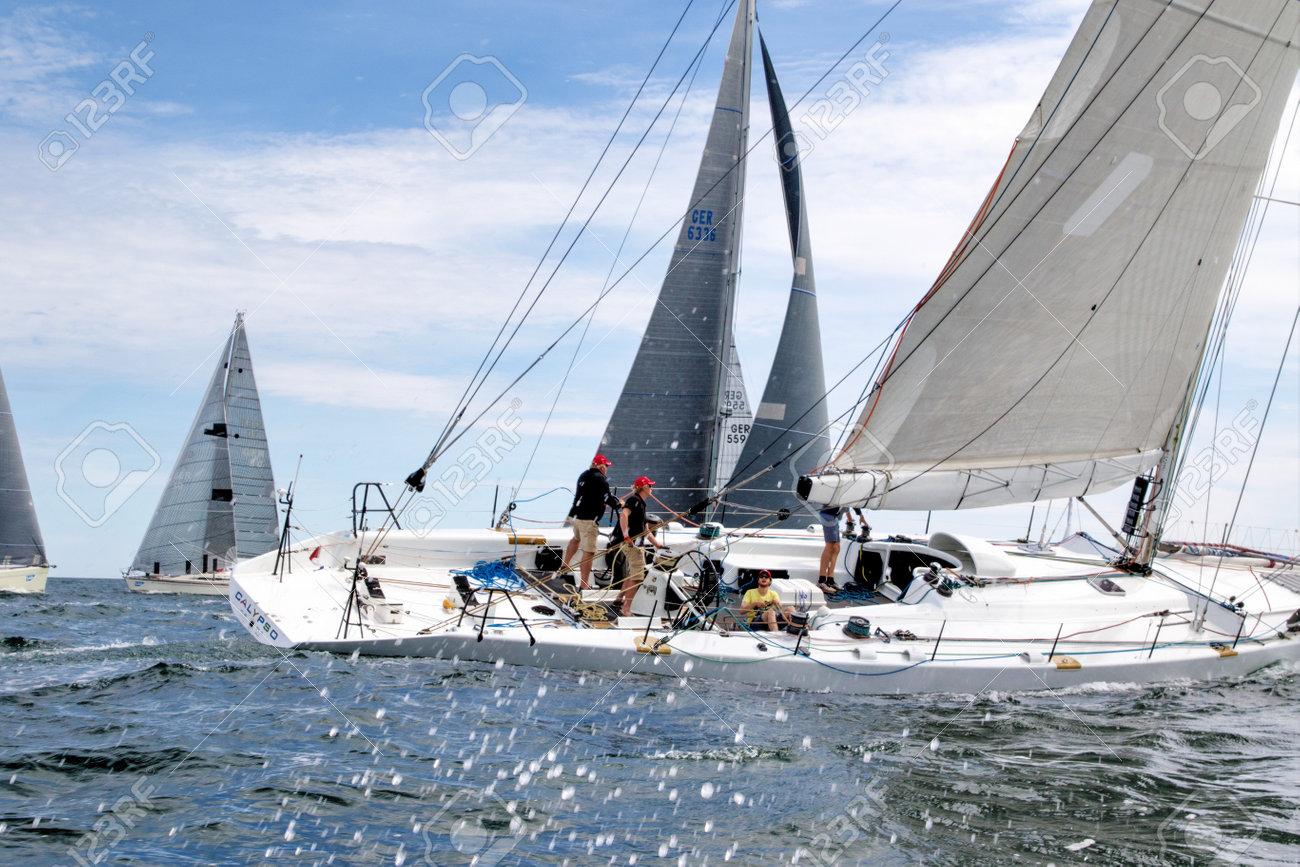 Travemuende, Germany - July 28, 2018 Sailing week in Travemuende Germany - 169860493