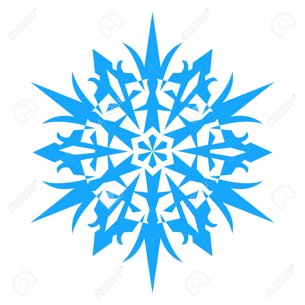 snowflake icon vector illlustration isolated on white background rh 123rf com free snowflake vector background free snowflake vector images