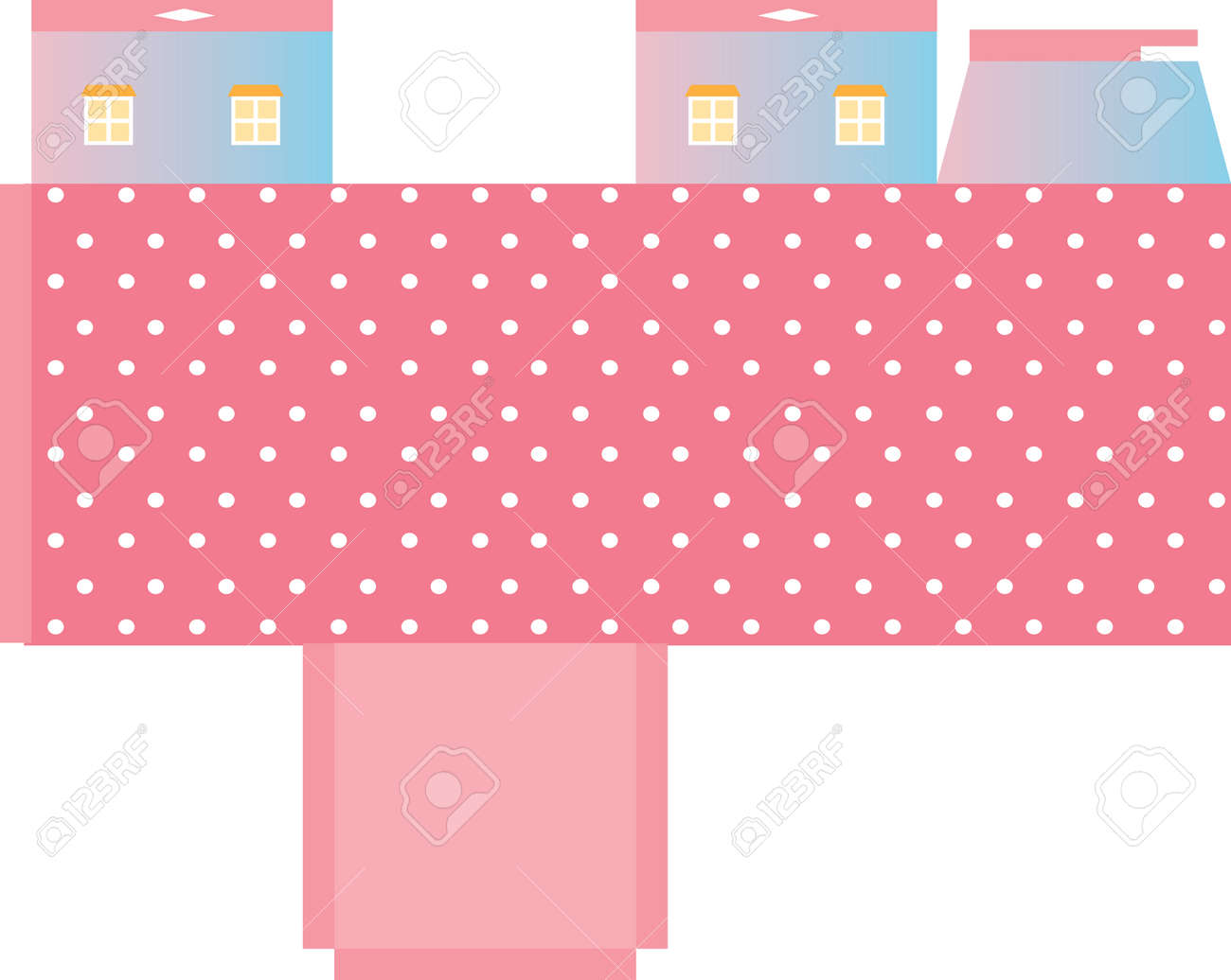 Printable Shapes Templates Template Box House Shape