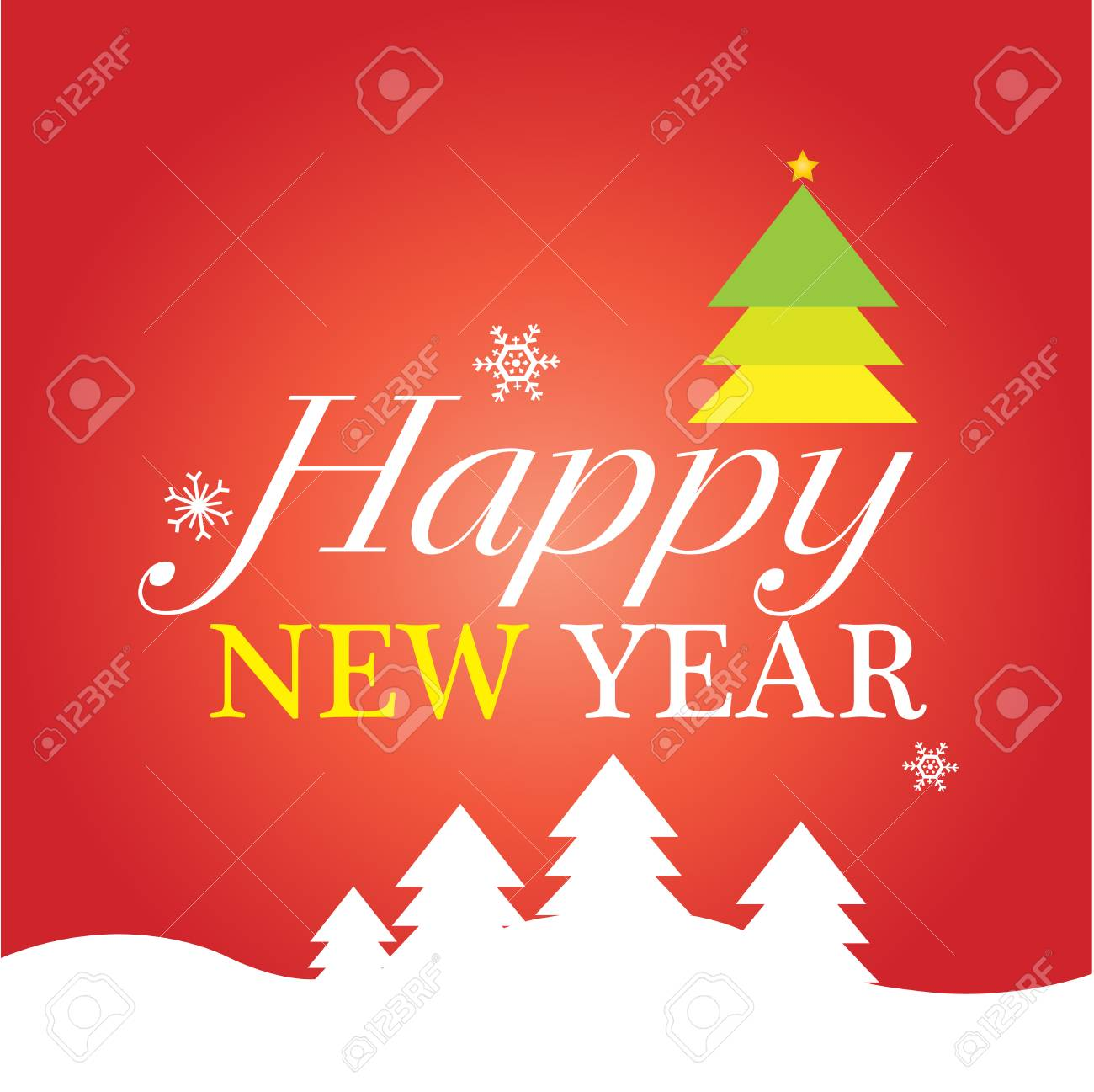 happy new year card stock vector 55563319