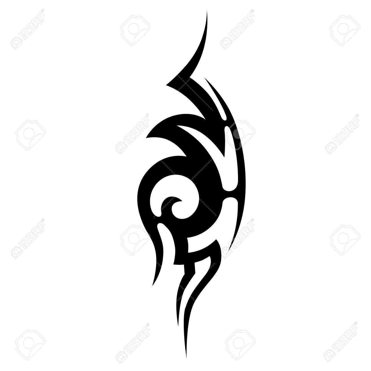 Tatuajes Tribales Vintage Tatuaje Tribal Del Arte Dibujo Vectorial