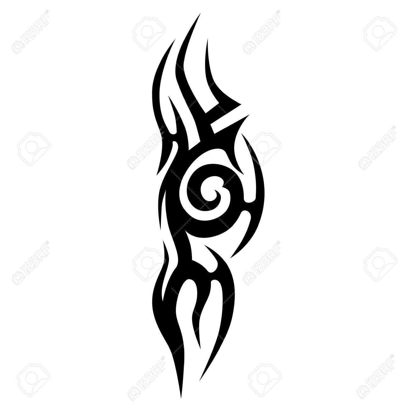 Scroll tattoo tribal vector designs. Tribal tattoos. Art tribal..
