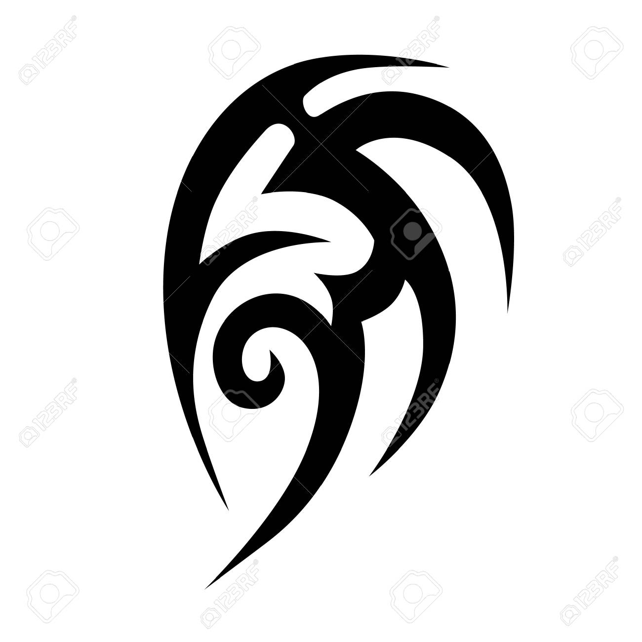 7c7117d16 Simple sketched vector designs. Tribal tattoos. Art tribal tattoo. Vector  sketch of a