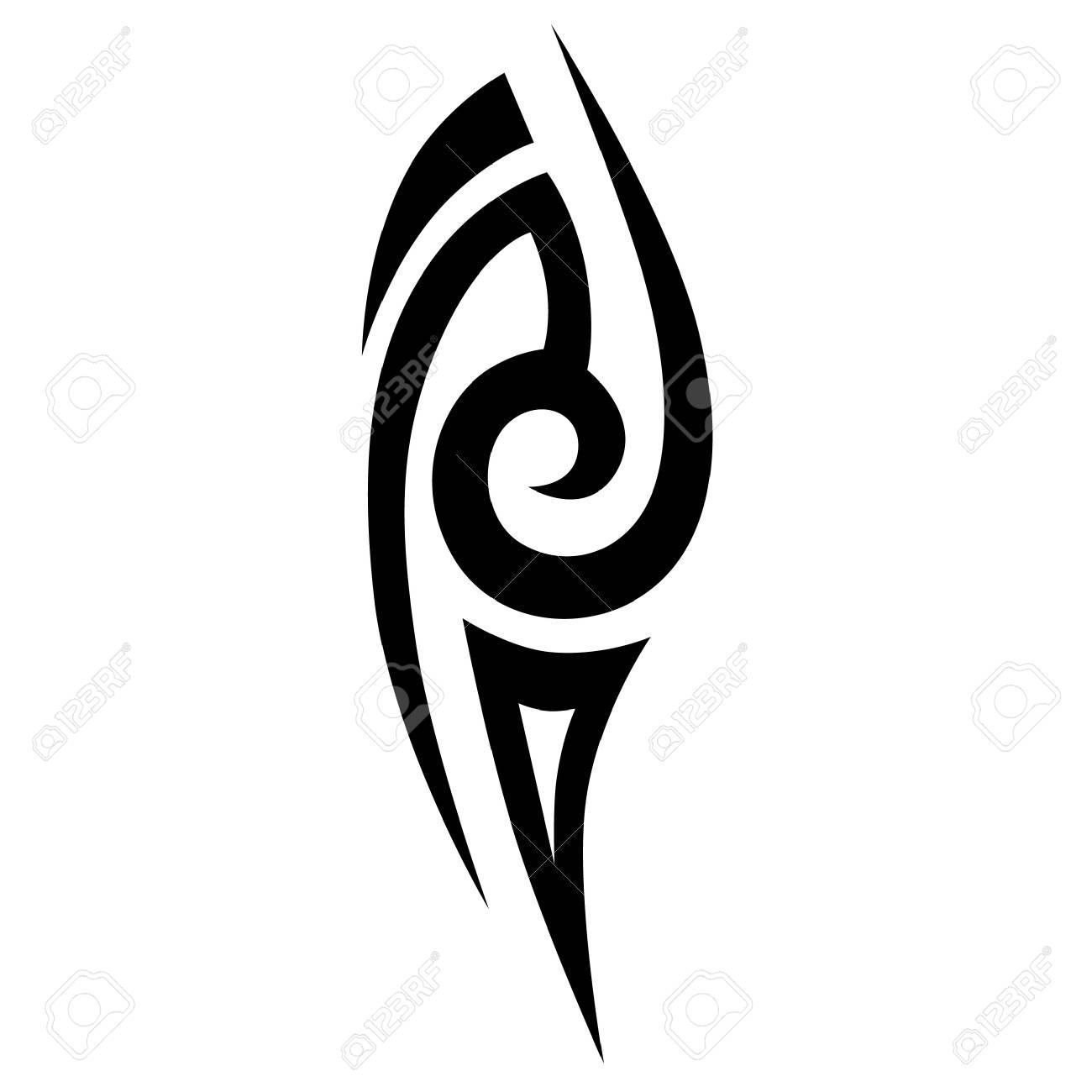Les tatouages ??tribaux simples esquissés. tatouage tribal art. croquis  vecteur d\u0027un tatouage. Idée pour la conception.