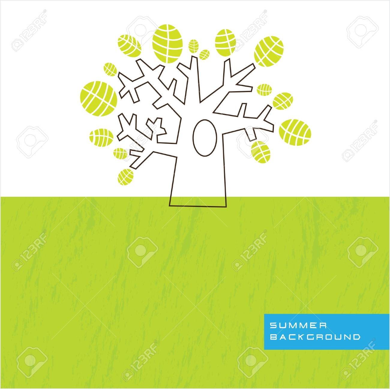 a silhouette image of a large tree Stock Vector - 12488397