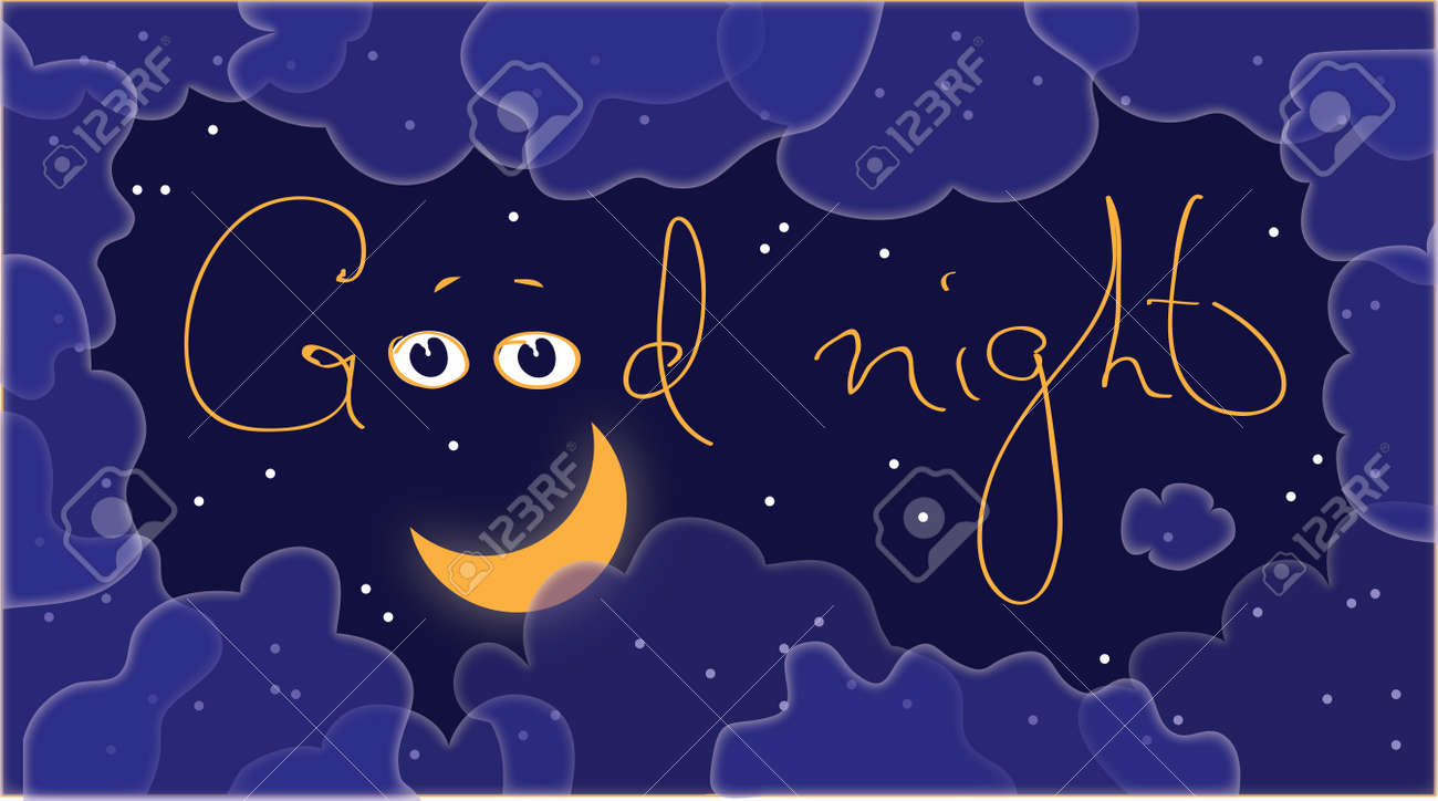 Vector abstract image the night sky  Banner Stock Vector - 12882818
