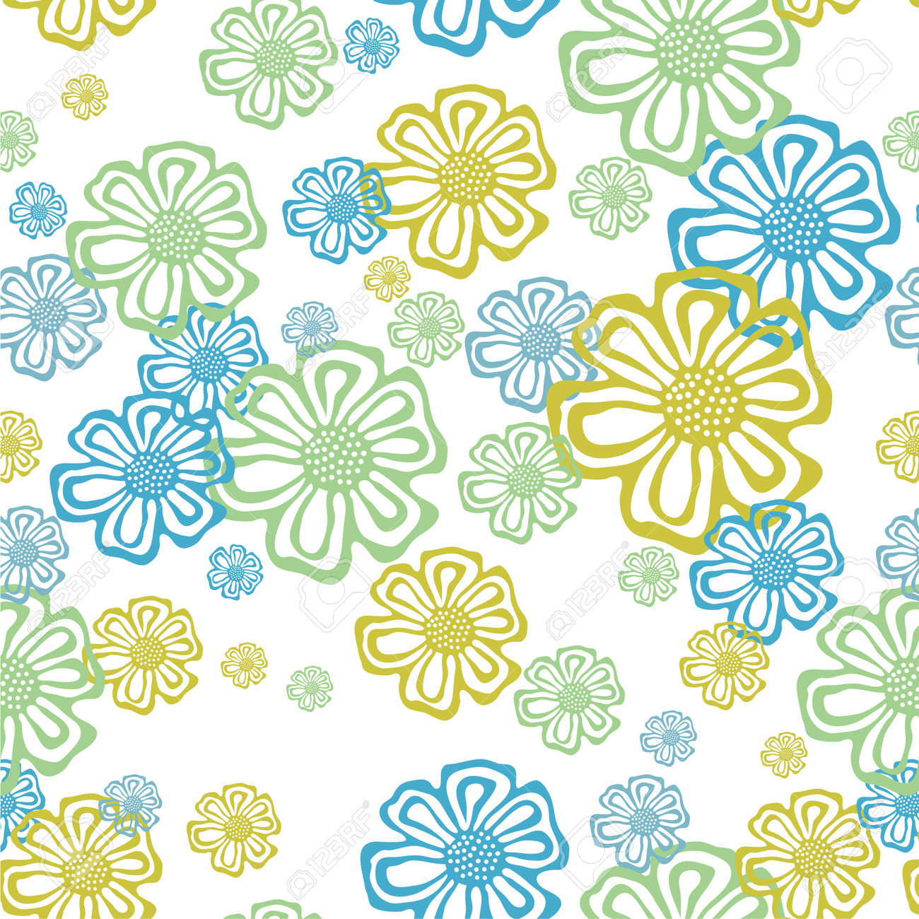 Ornate floral seamless texture, endless pattern with flowers Stock Vector - 13141760