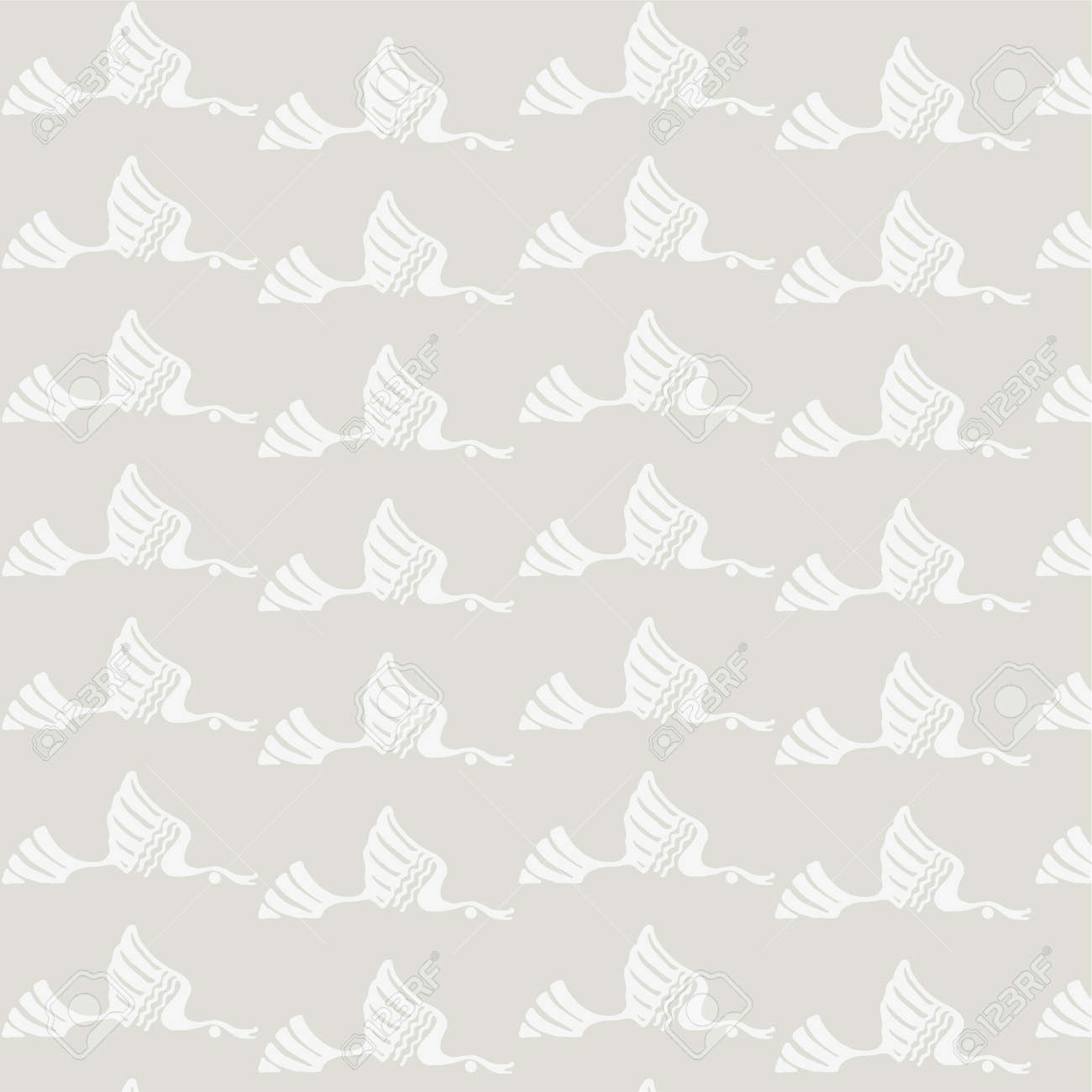 Seamless texture. Ducks flying in the sky. Pastel Stock Vector - 16844165