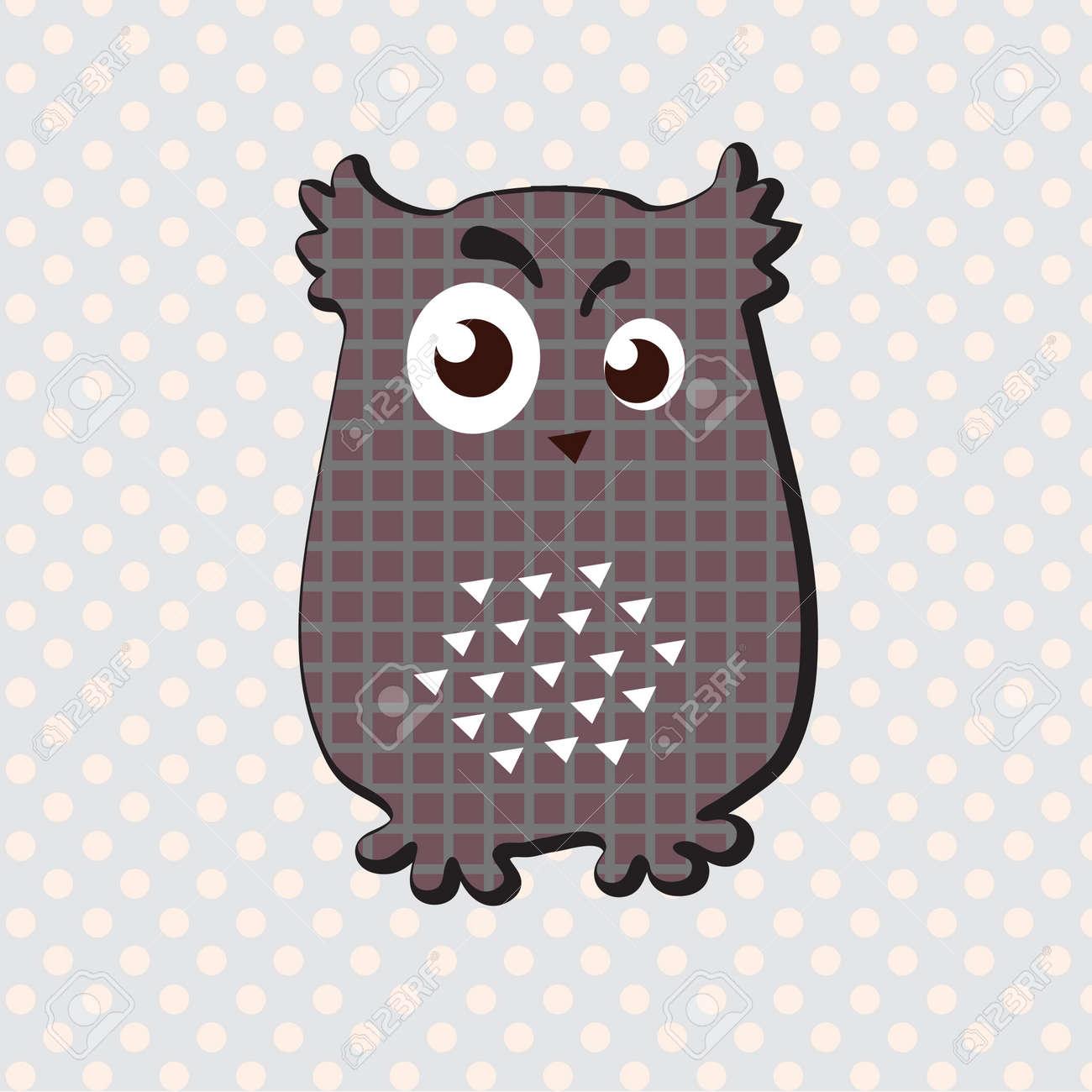 Decorative owl with interesting look  Vector art Stock Vector - 17224276