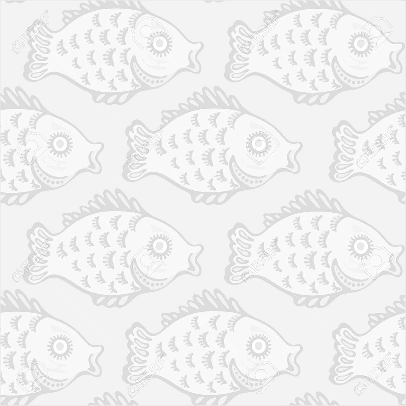 Seamlessly tiling retro fish pattern Stock Vector - 17224299