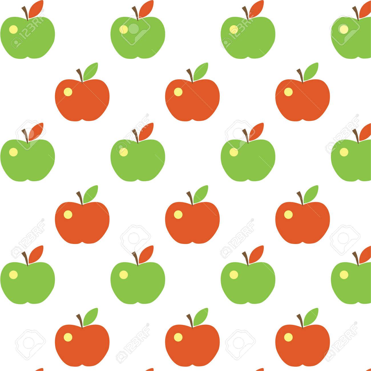 Seamless cute apple pattern Stock Vector - 17988259