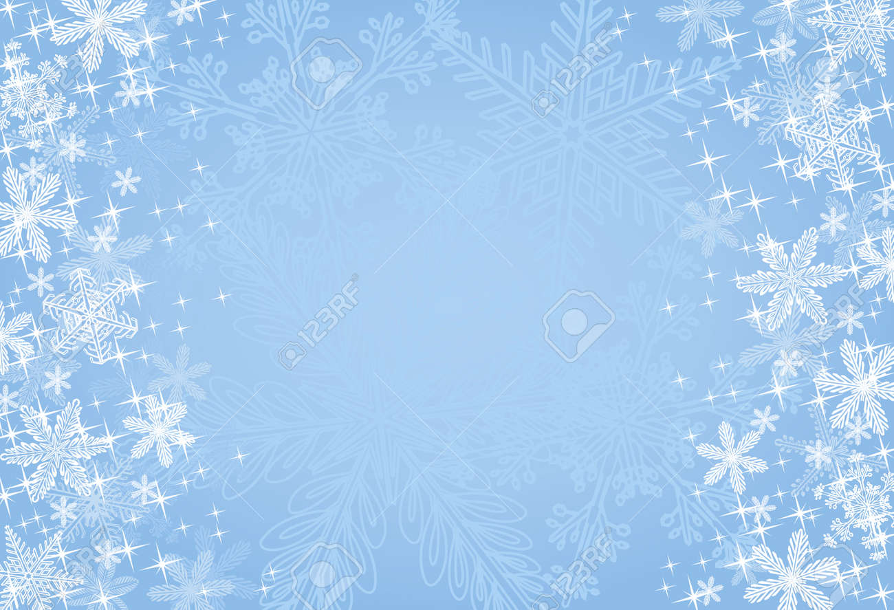 Blue Winter Or Christmas Background Royalty Free Cliparts, Vectors ...
