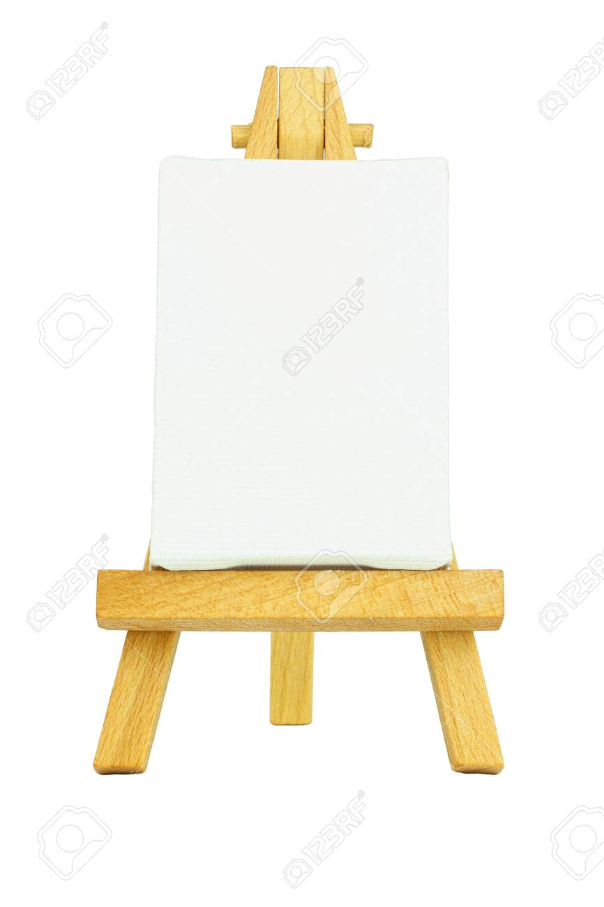 Easel with a blank canvas to be used for text and other purposes by the designer Stock Photo - 11811439