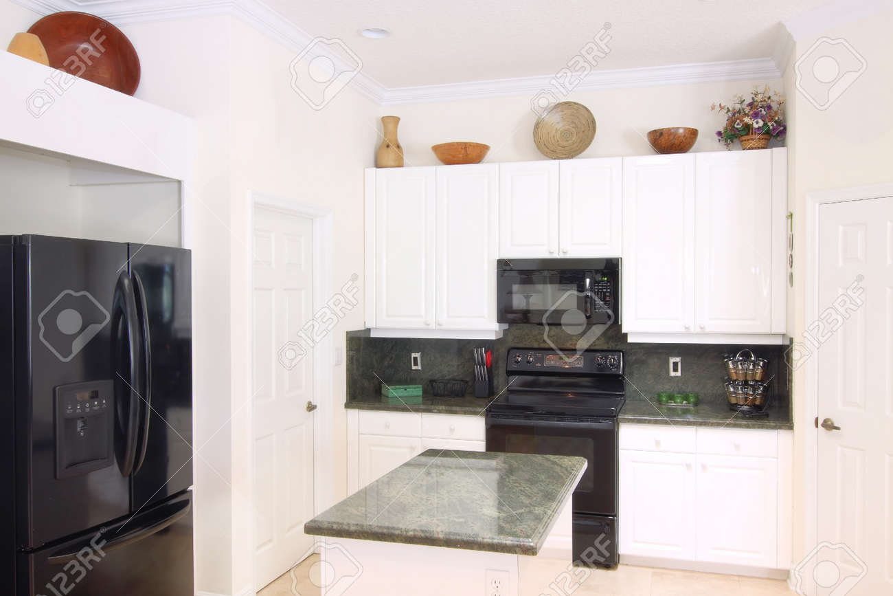 Upscale Kitchen Appliances View Of A Beautiful Modern Kitchen With Upscale Appliances White