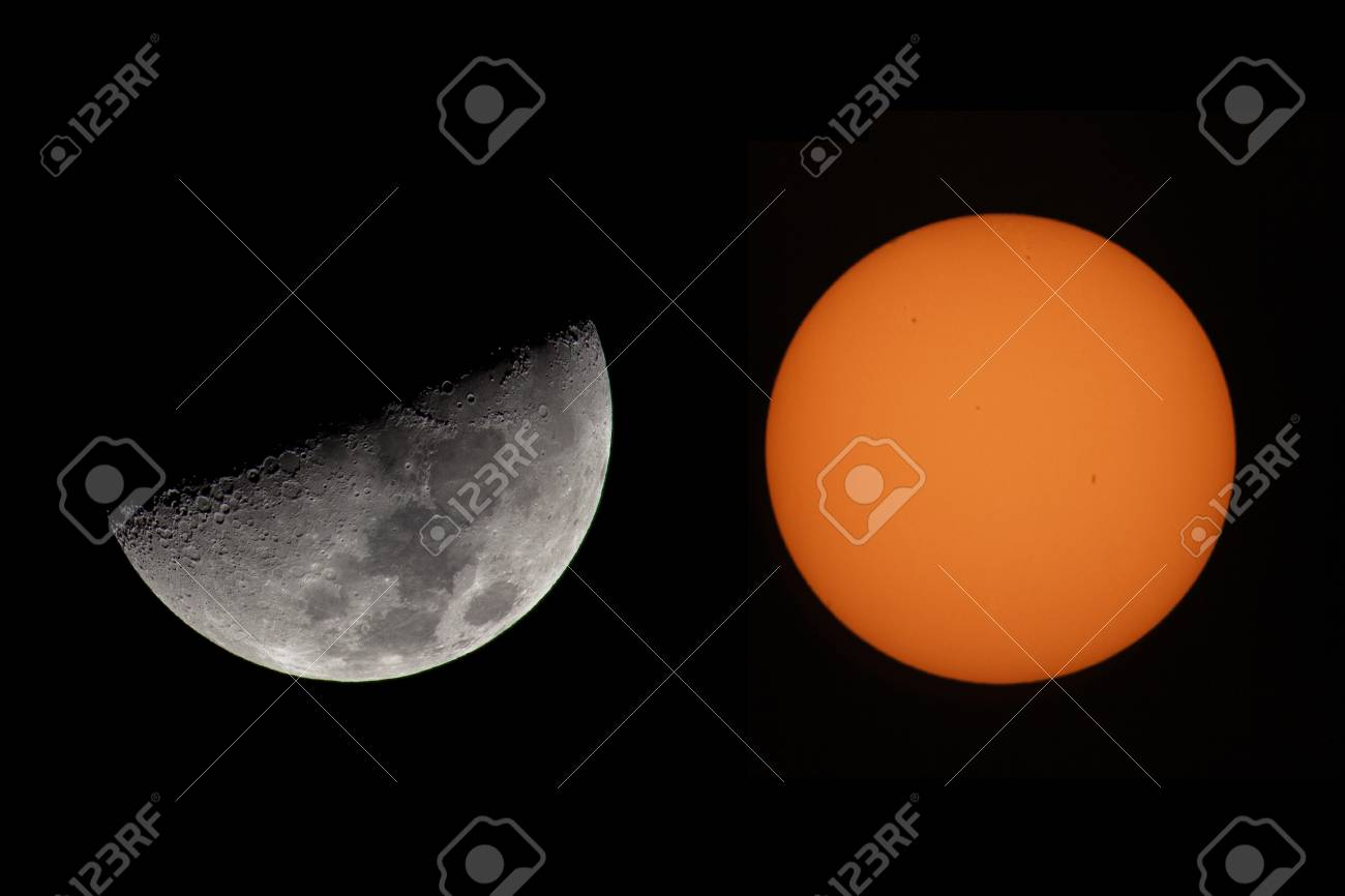 Sun And Moon Stock Photo - 28461524
