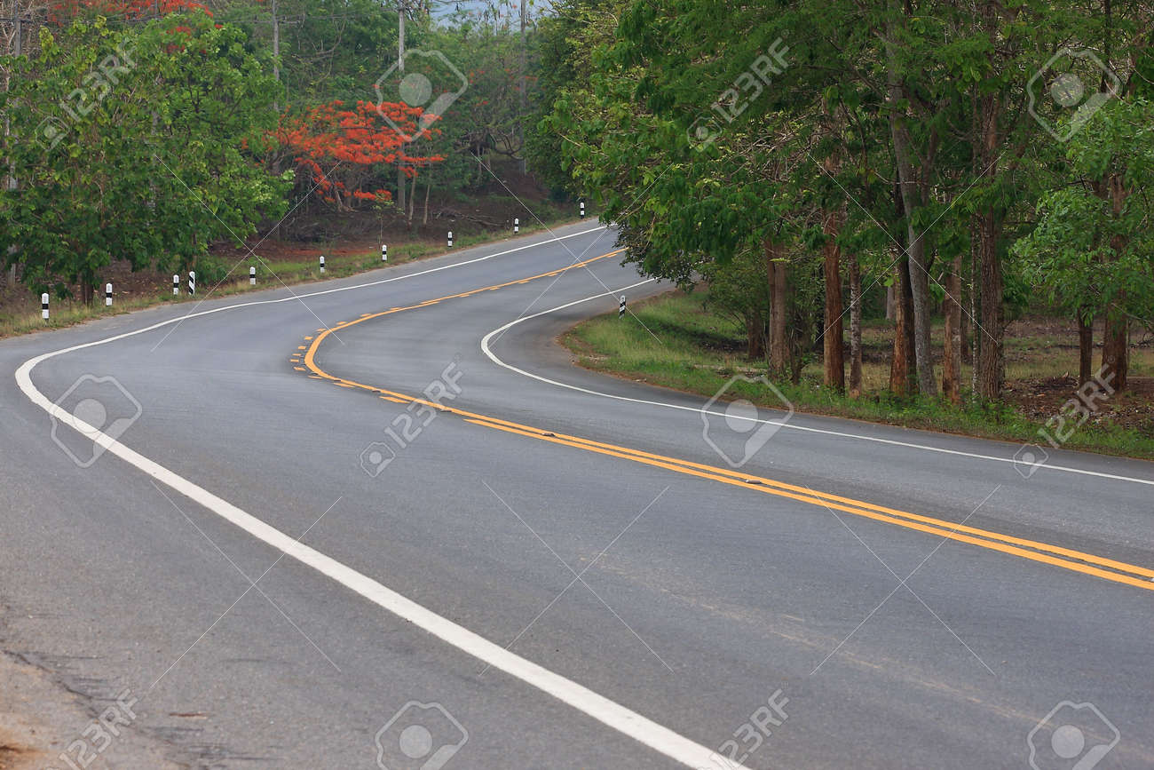 The road goes on in thailand Stock Photo - 6894174