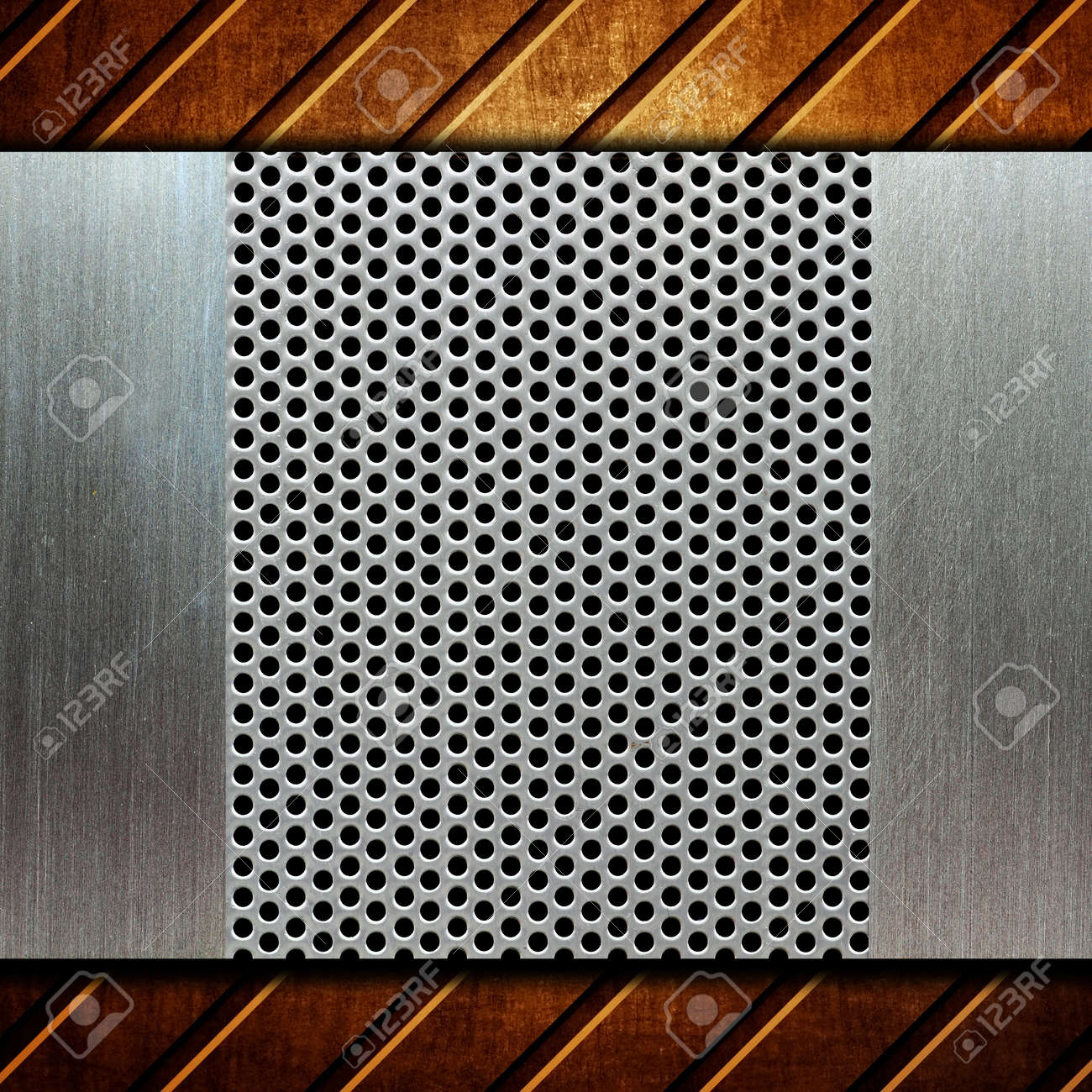 metal template background Stock Photo - 8146303