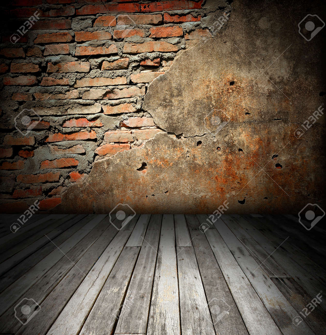 old room with brick wall Stock Photo - 8485648