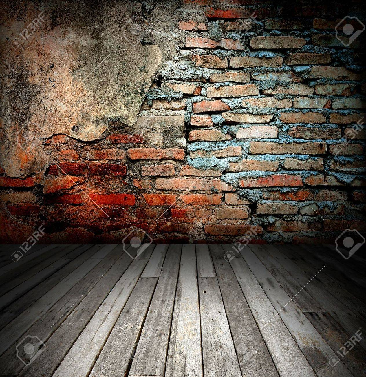 old room with brick wall Stock Photo - 8485669