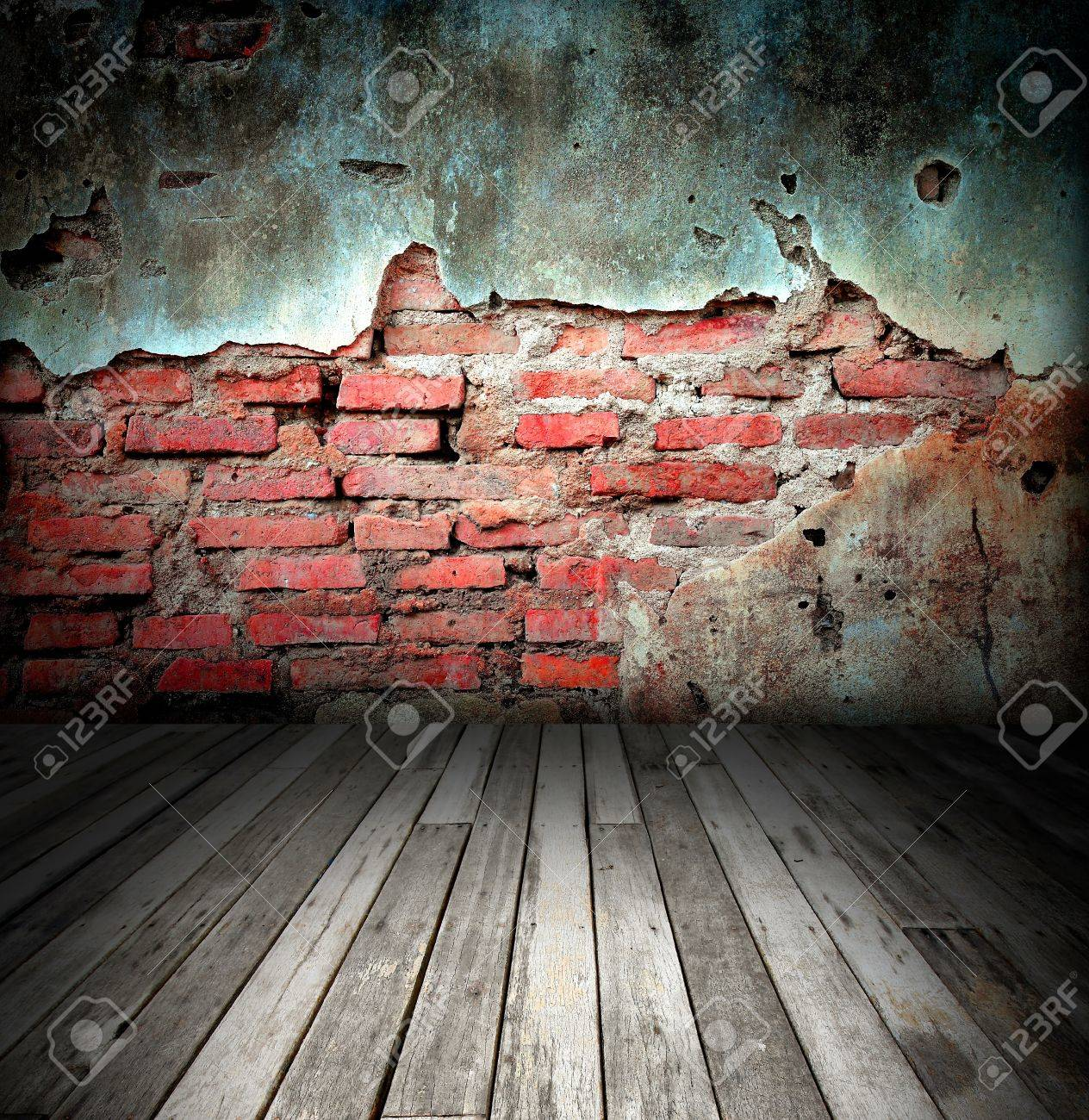 old room with brick wall Stock Photo - 8485668