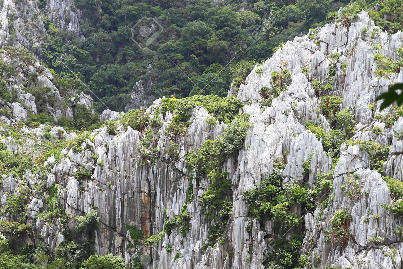 high mountain view near the village, Saraburi, Thailand. Stock Photo - 10117525