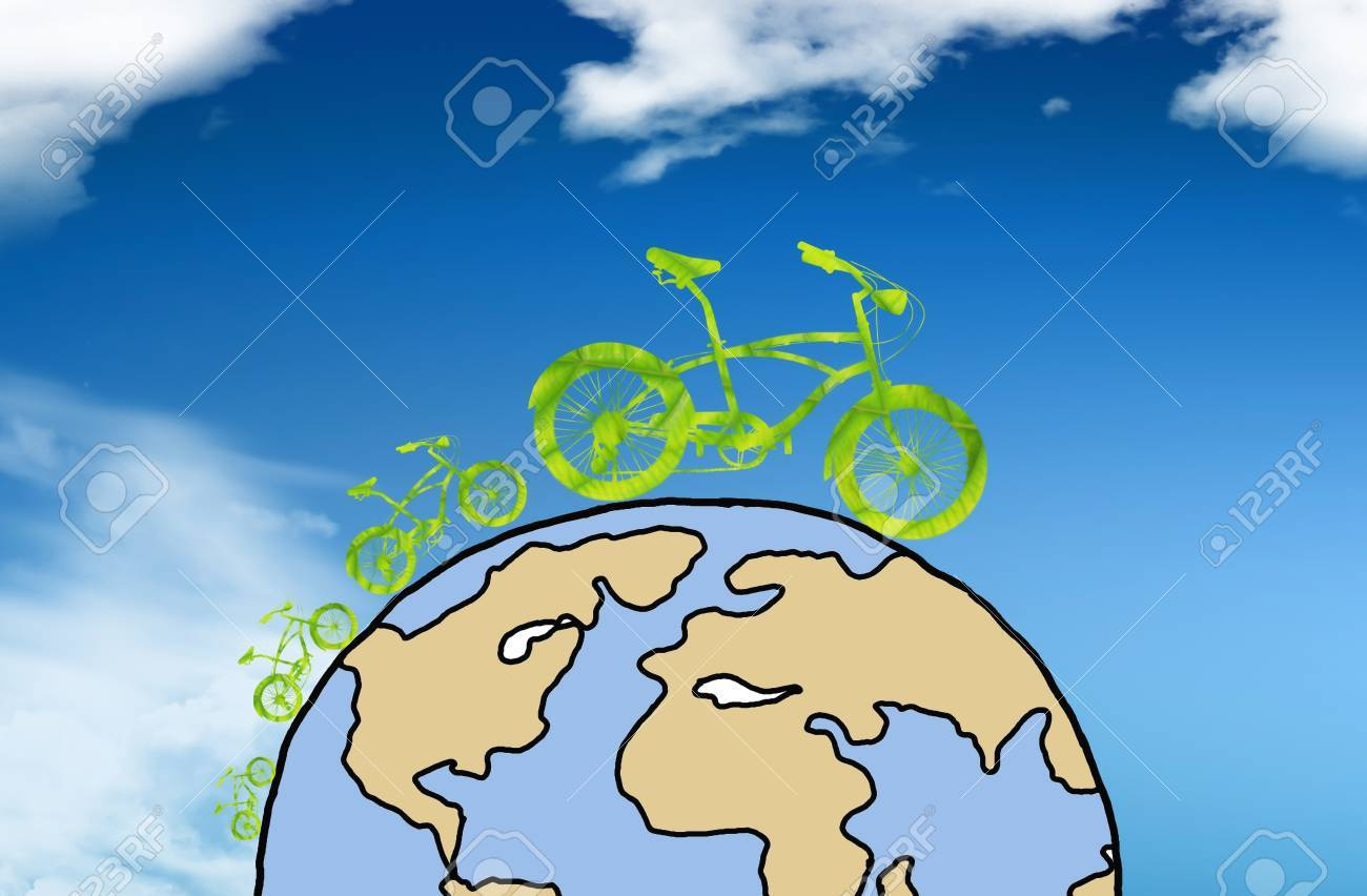 Green earth with car reduce CO2 Stock Photo - 10454431
