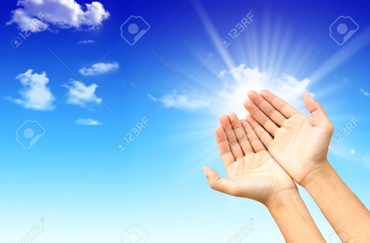 Hands on sky Stock Photo - 10454425