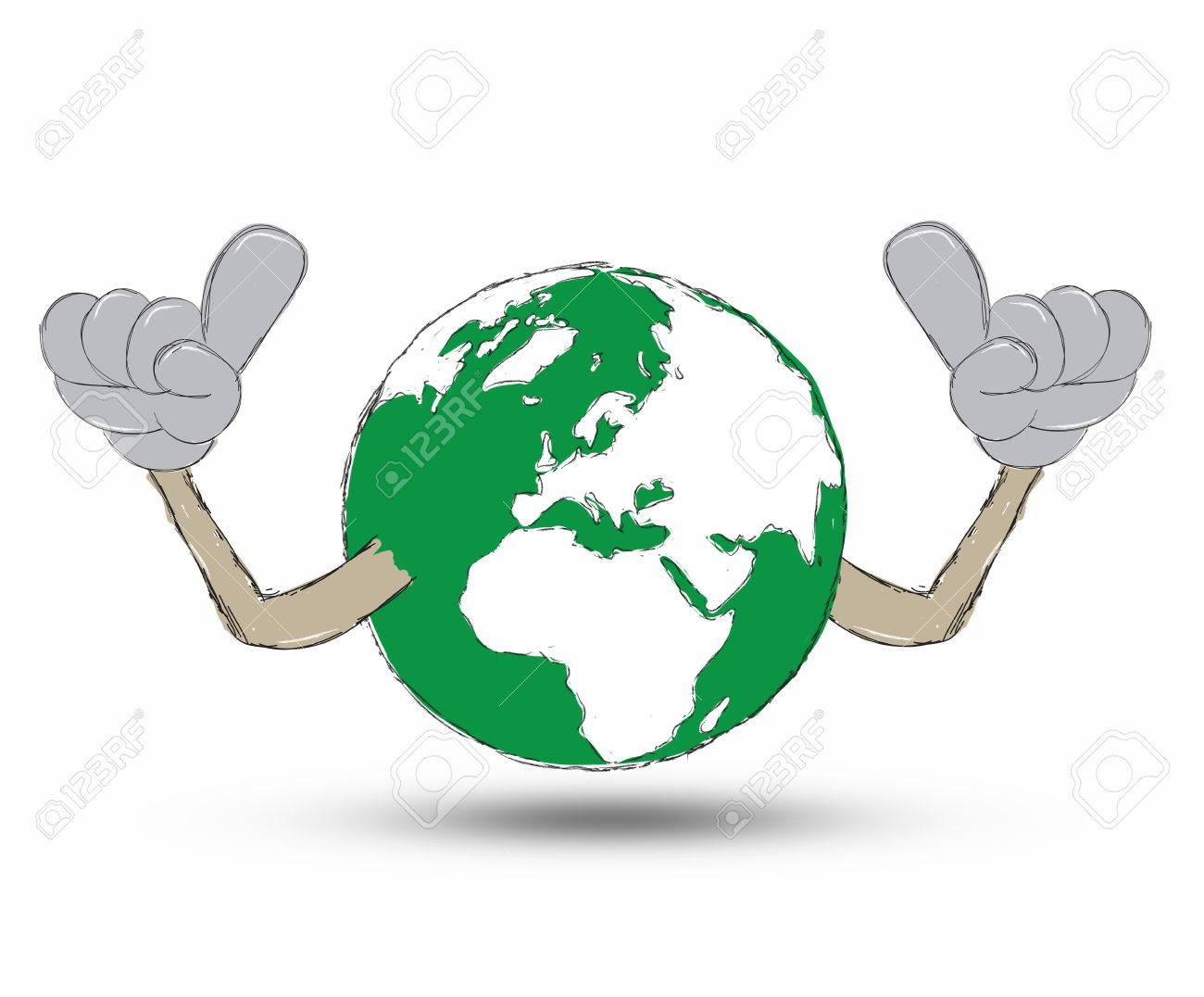 Earth Hand drawn Stock Photo - 12403320