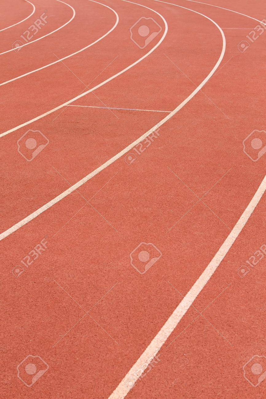 head start red white running track background stock photo picture