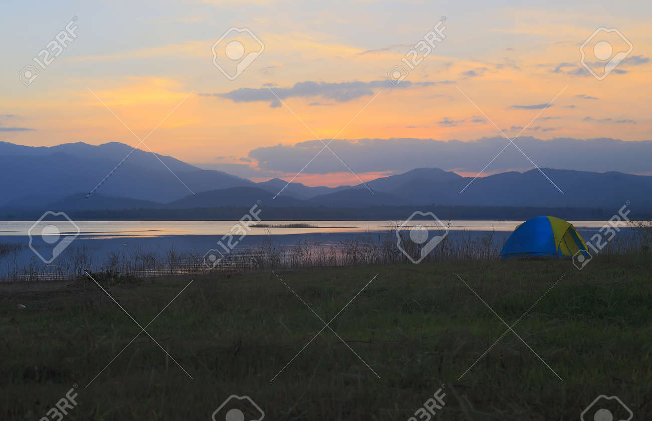 Campground beside the lake,National park,Thailand Stock Photo - 17295891