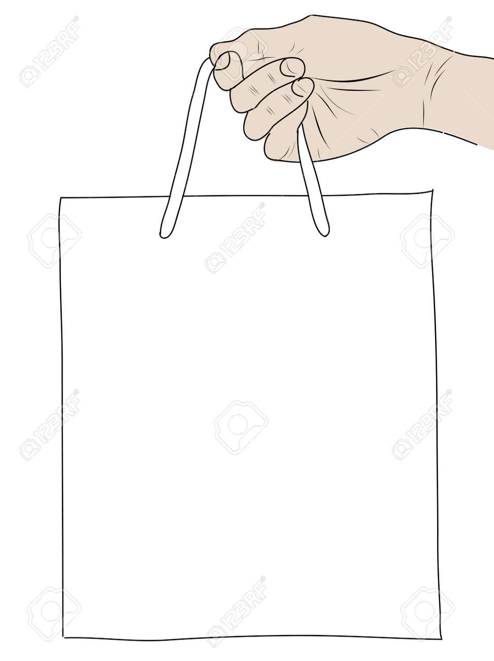 hand drawning  Shopping Bag Stock Photo - 17576536
