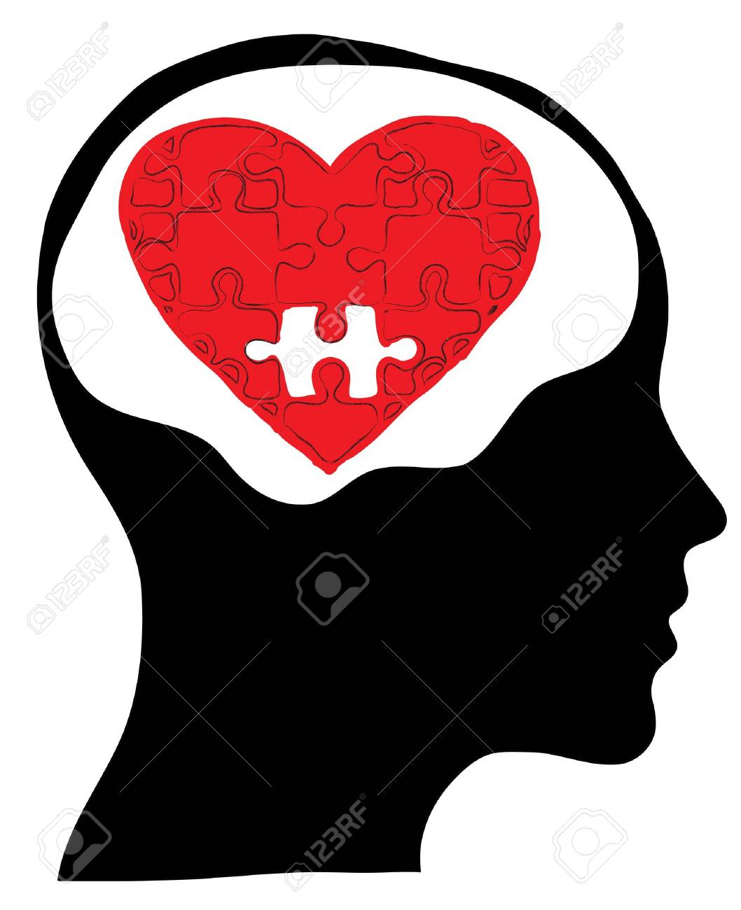 Love concept with human head Stock Photo - 18044735