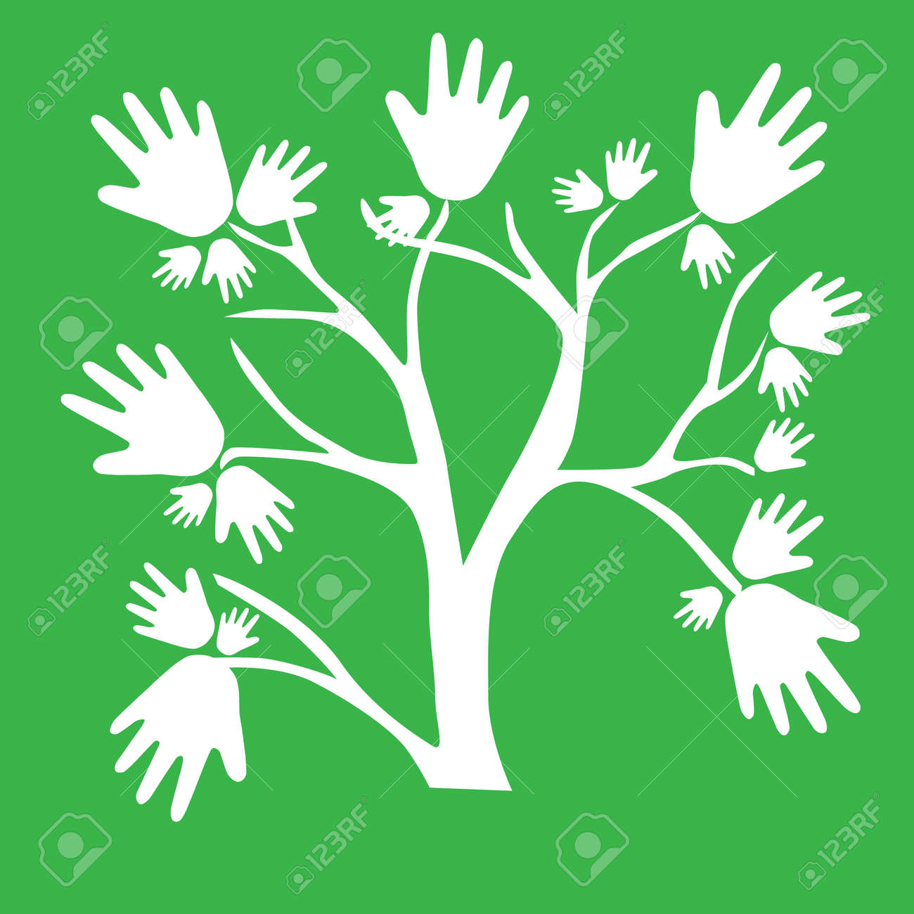 Eco friendly tree hands illustration for greeting card royalty eco friendly tree hands illustration for greeting card stock vector 22394975 kristyandbryce Images