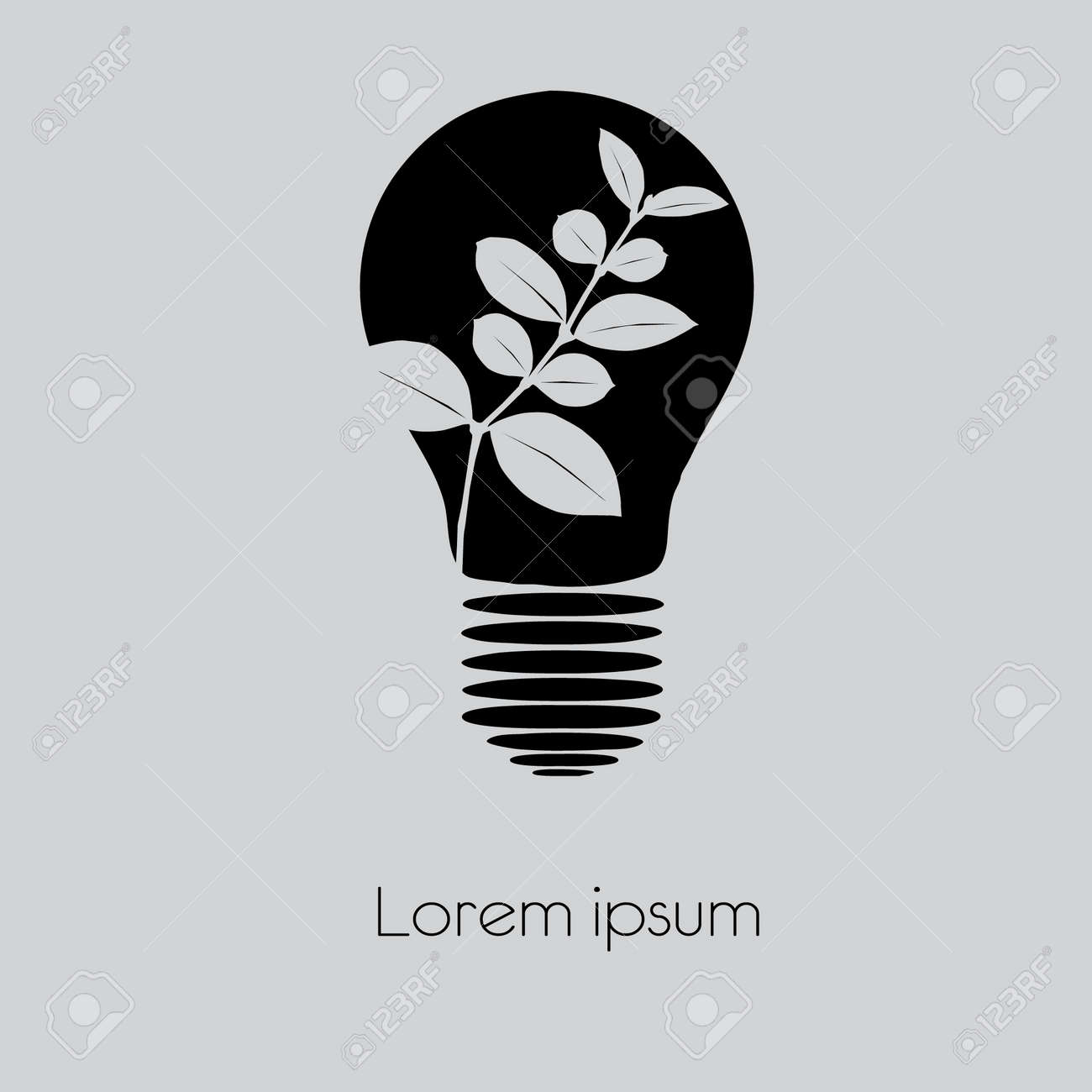 Concept Tree In Light Bulb Symbol Of Renewable Energy Royalty Free