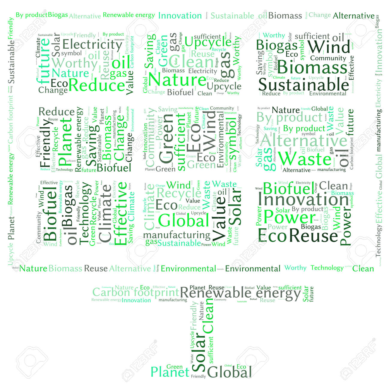 Poster design word - Ecology Earth Concept Word Collage Environmental Poster Design Template Stock Vector 40941698
