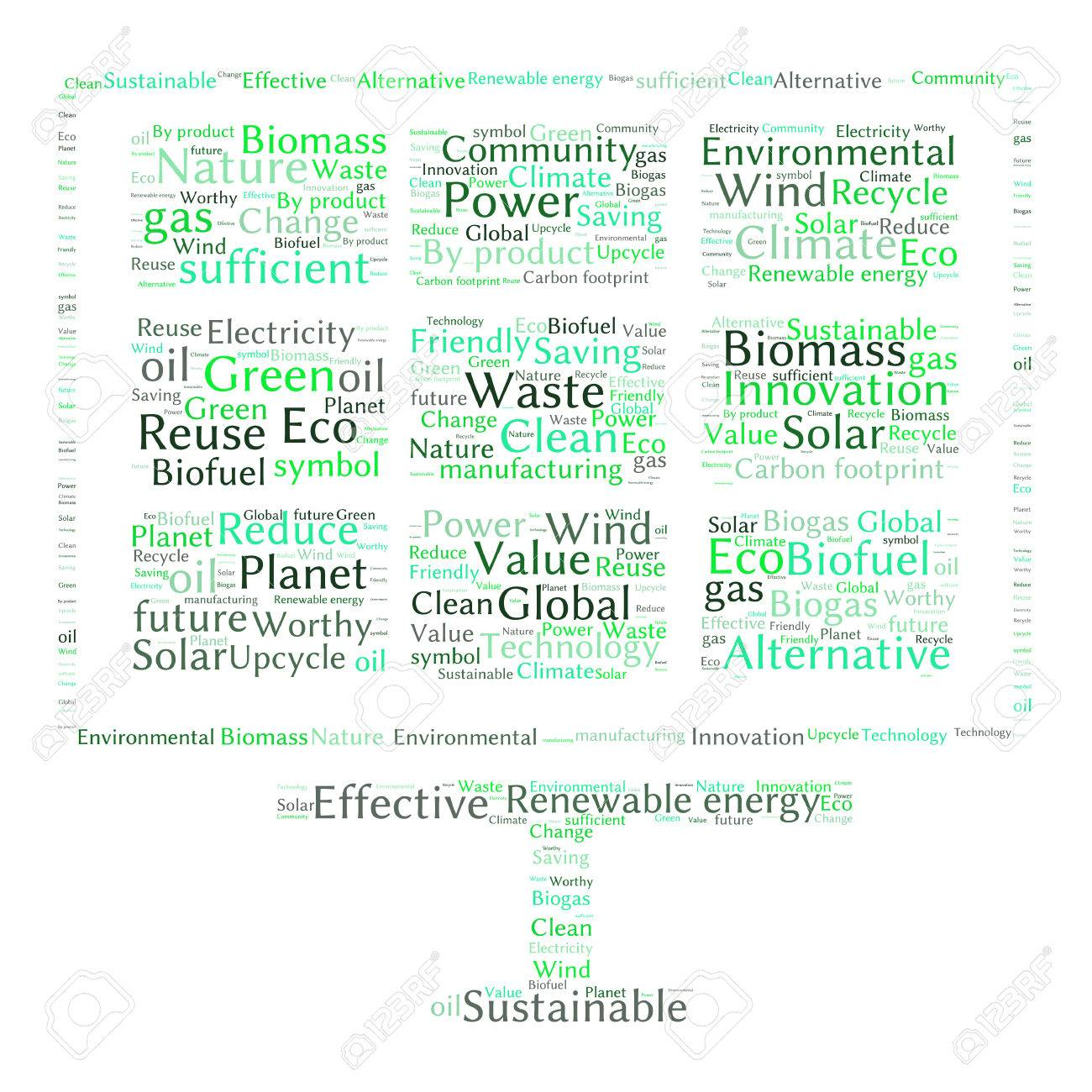 Poster design word - Ecology Earth Concept Word Collage Environmental Poster Design Template Stock Vector 40941699