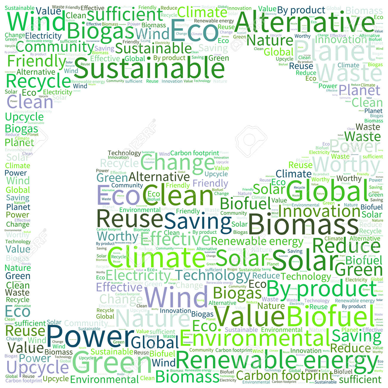 Ecology Earth Concept Word Collage Environmental Poster Design – Word Template Poster