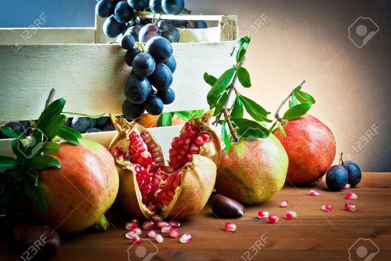 still life of autumnal foods - 10941706