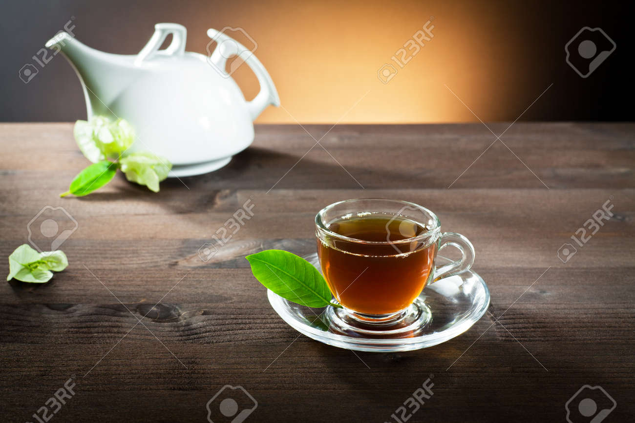 hot tea in a small cup Stock Photo - 11843112