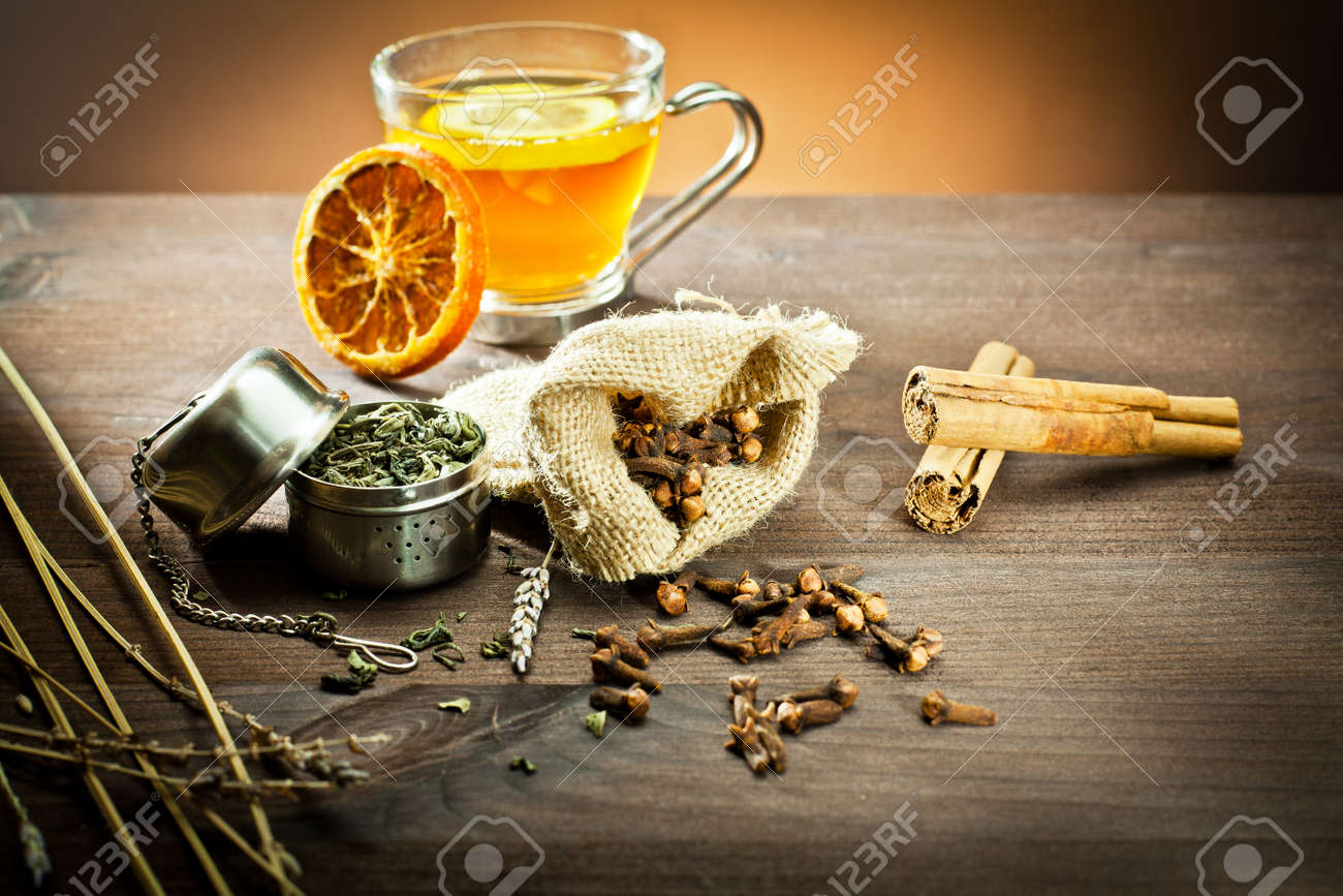 aromatic spices and decoration for tea - 11843114