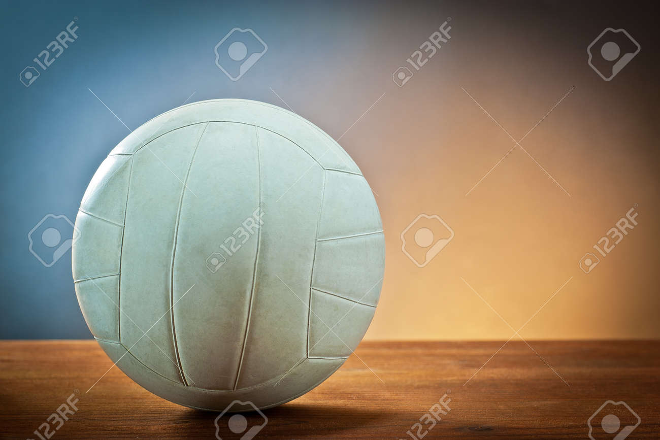 Sports equipment.Volleyball on wood - 12121824