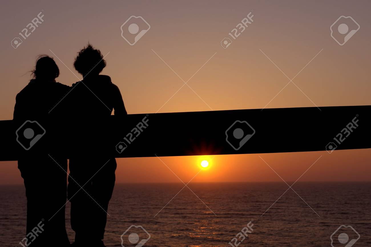 couple at the sunset Stock Photo - 797804