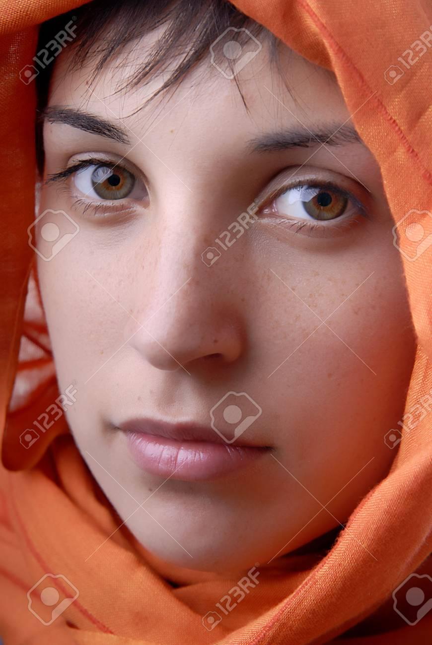 young woman close up portrait, studio picture Stock Photo - 1729139