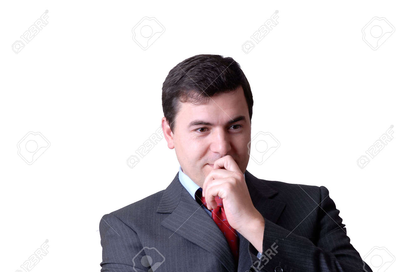 young business man portrait in white background Stock Photo - 1768594