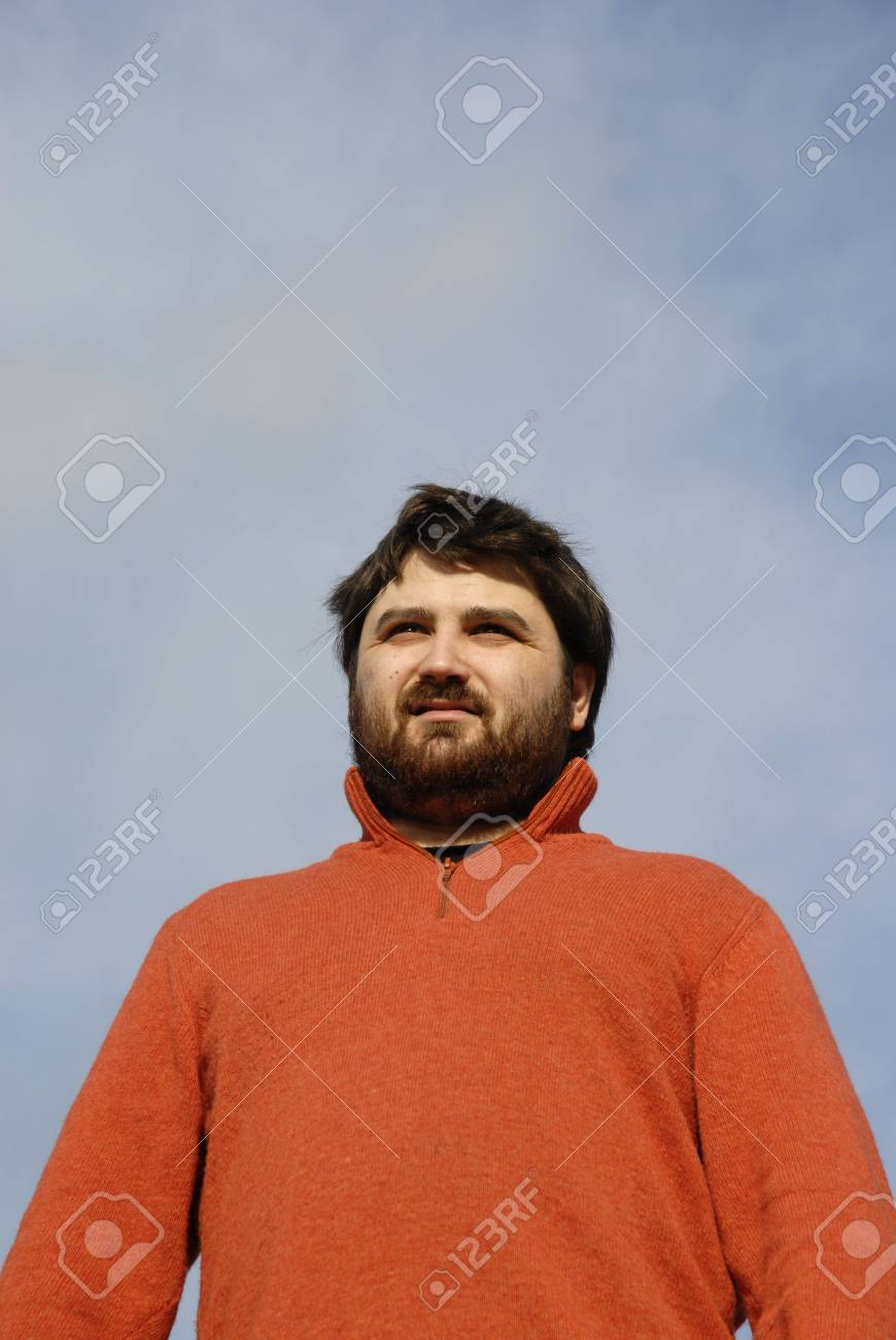 young casual man with the sky as background Stock Photo - 2005072