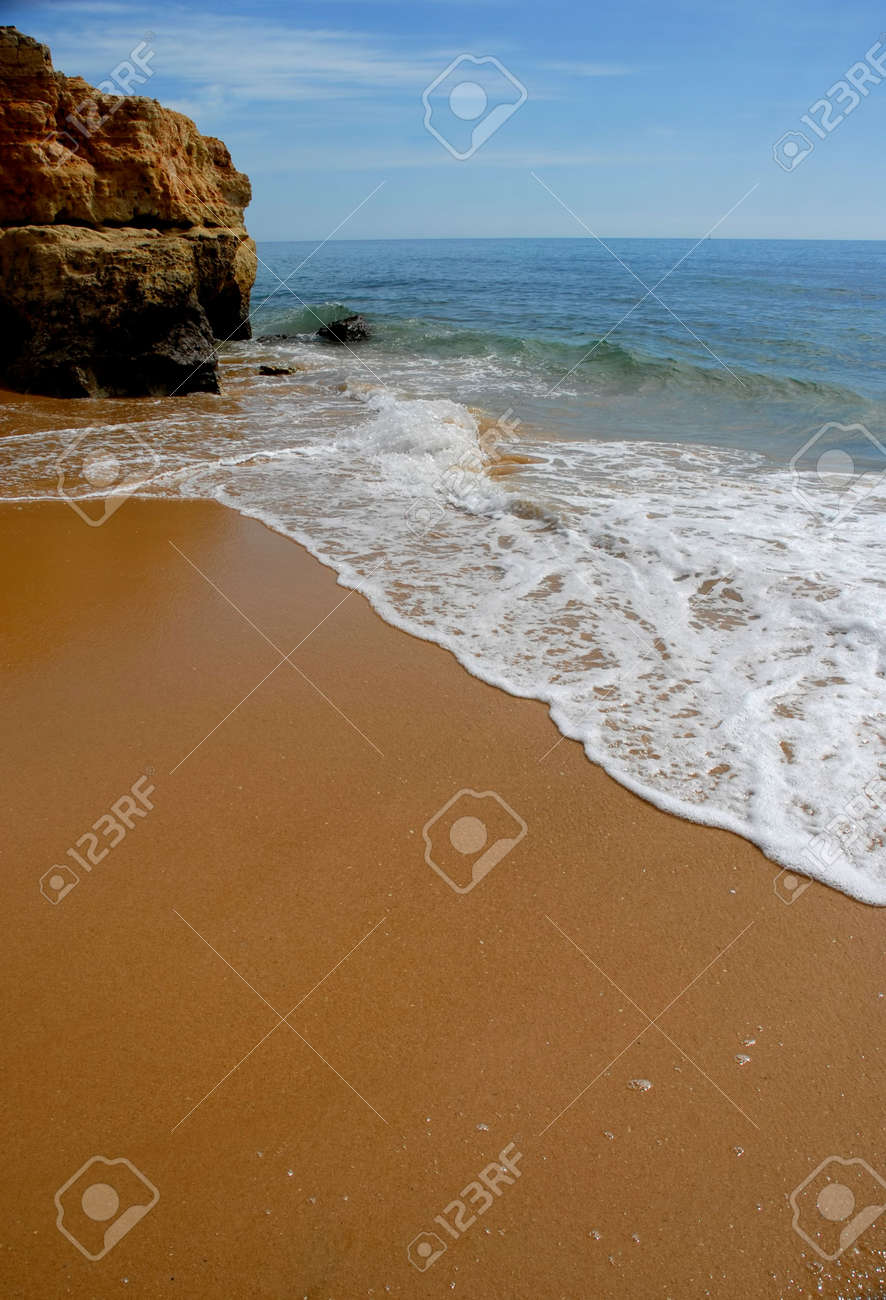small beach at algarve, the south of portugal Stock Photo - 2102143