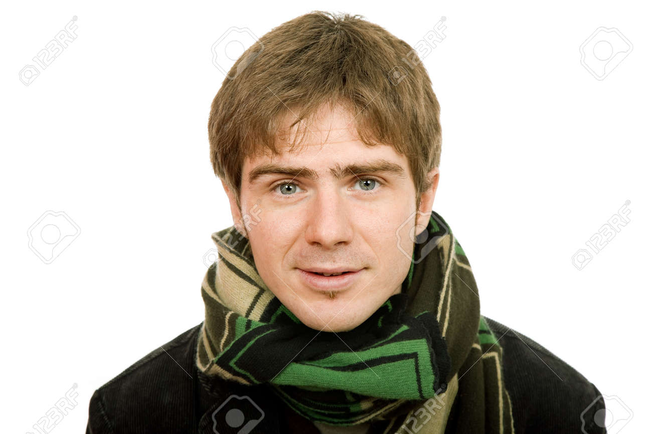 studio picture of a young man dressed for winter Stock Photo - 4013108